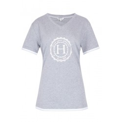 Harcour Havre gris chiné Tee-Shirt Femme Spring 2